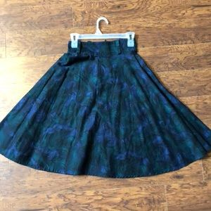 Pinup Couture peacock circle skirt retro vintage